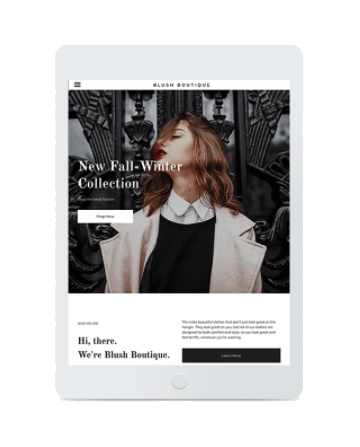 mode template primobiweb tablette